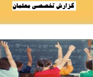 گزارش تخصصی دبیر ریاضی